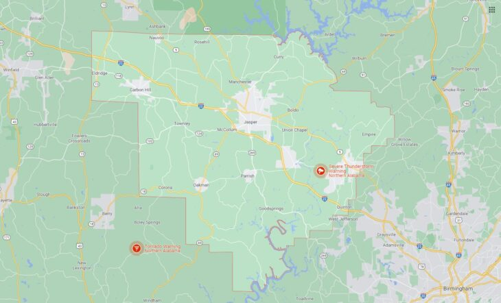 All Cities in Walker County, Alabama